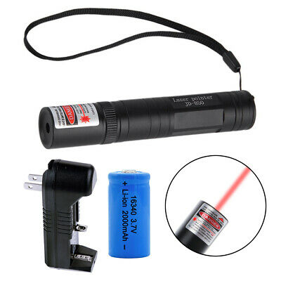 Military High Power Purple Green Red Laser Pointer Pen -16340 Battery & Charger