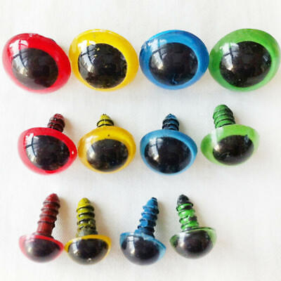 10pcs 10mm Mix Color Plastic Safety Eyes For Teddy Bear Doll Animal Puppet Craft