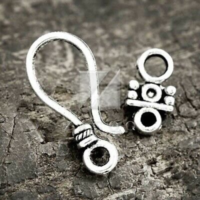1681Y-K-131A 8sets Oxidized Silver Tone Base Metal Toggle Clasps 16 pcs