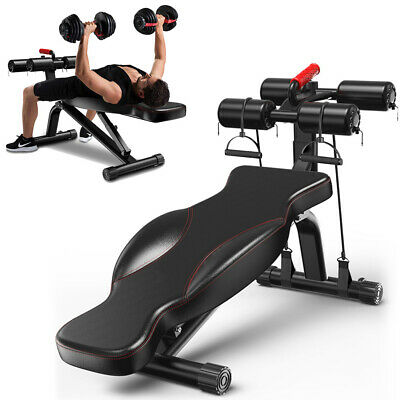 Luxury Adjustable FID Flat/Incline/Decline Weight Bench Dumbbell/Barbell/Gym