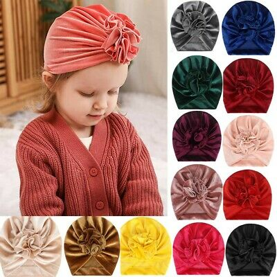 Newborn Girls Headband Hat Cotton baby Infant Turban Knot Headband Head Wrap KA