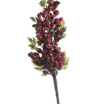 Factory Direct Craft Festive ICY Mixed Red Artificial Berry Stem