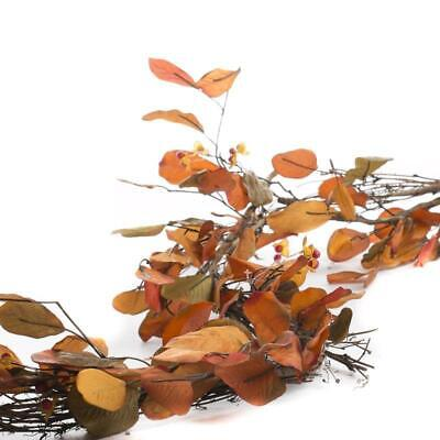 Factory Direct Craft Faux Autumn Leaf and Bittersweet Garland | for Indoor Decor