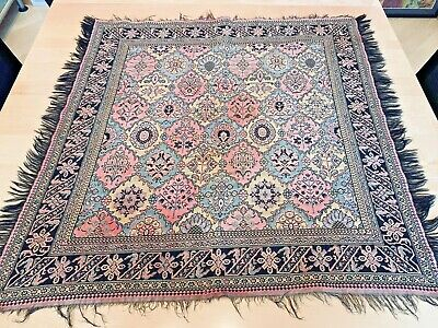 Antique Woven Paisley Table Topper