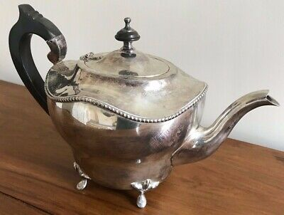 Antique Good Quality Silver Plated Tea Pot Plate In Good Order Epns A1