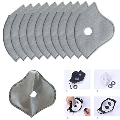 10pcs/Set Activated Carbon Anti Dust Motorcycle Bicycle Cycling Face Mask Filter