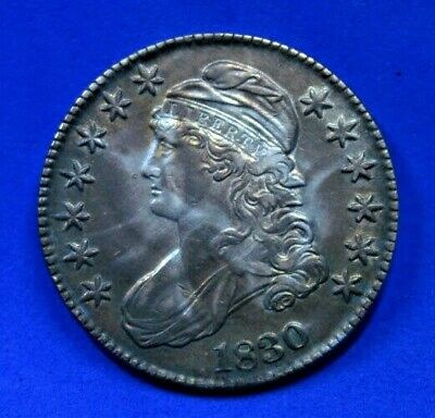 1830 Capped Bust Silver Half Dollar - Toned