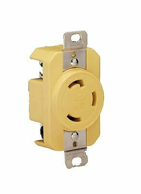 Marinco 305CRR Marine Electrical Receptacle (30-Amp, 125-Volt, Female, Yellow)