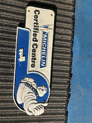 MICHELIN Tires Certified Center 1949 Manchester Vintage Cast Iron Plaque Sign