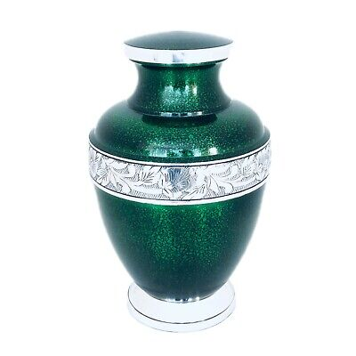 Well Lived® Green Metallic Adult Cremation Urn for human ashes
