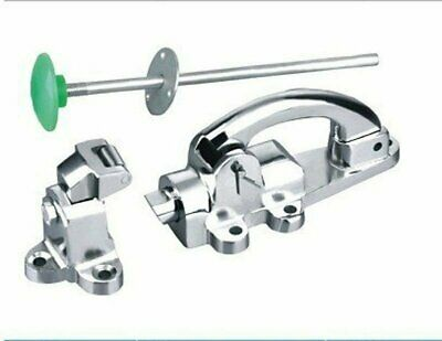 Cast Iron Chrome Latch with Strike Replacement for Kason 52 Inside release