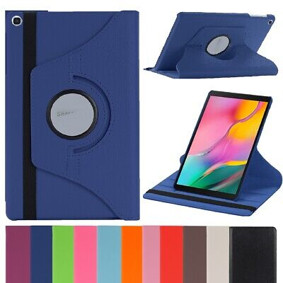 """Folio Leather Case For Samsung Galaxy Tab S4 S5e S6 10.5"""" with Rotating Stand"""