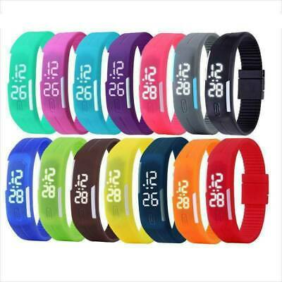 Multi-Color Womens Girls Mens Kids Digital LED Waterproof Sports Wrist Watches