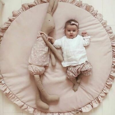 Round Crawling Soft Cotton Crawling Carpet Round Lace Blanket Baby Play Mats