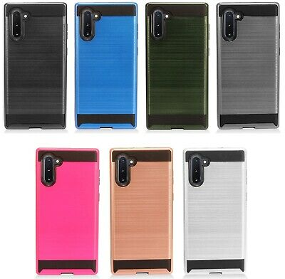 for {Samsung Galaxy Note 10} Metallic Hybrid Cover Phone Case