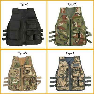 Kids Children Tactical Vest Combat Assault Army Military Hunting CS Game Clothes