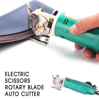 Electric Scissors Rotary Blade 65W Auto Cutter Leather Fabric Cutting Machine