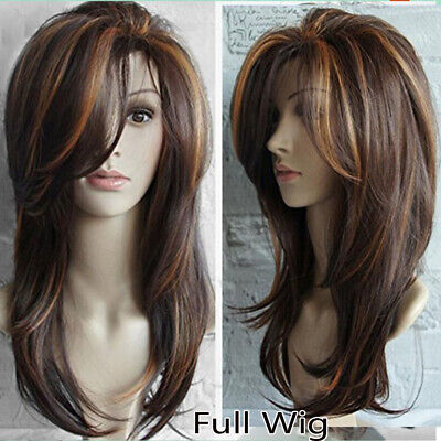 5 Styles Women Long Curly Wigs Synthetic Hair Natural Full Wavy Wig G HOT