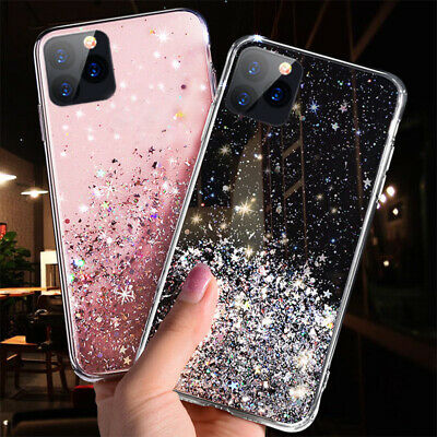 For iPhone 11 Pro Max Phone Glitter Case Cover Silicone Soft Rubber Back Protect