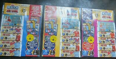 Topps Match Attax trading card game season 2019/20 LIMITED EDITION PACK x 3
