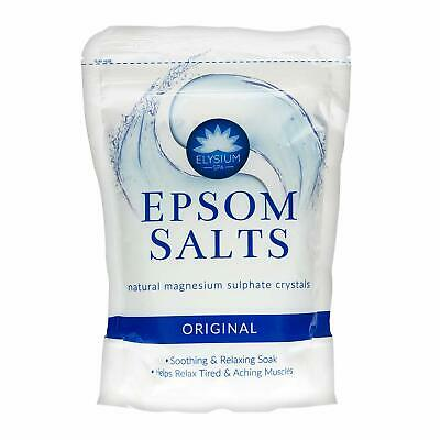Elysium Spa Epsom Bath Salts Natural Magnesium Sulphate Crystals - ORIGINAL x 1