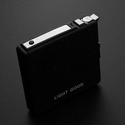 Metal Cigarette Box Case With Windproof Cigarette Lighter QU