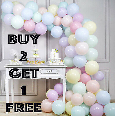 """100 Quality Pastel Finish 5"""" INCH Small Round Latex Balloons Choose Colour 9"""