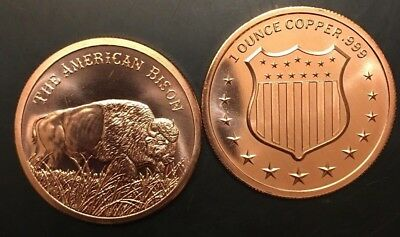 Bison 1 oz .999  Buffalo Copper Bullion Rounds Coins(Going Fast) Great Xmas Gift