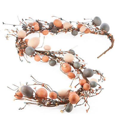 Factory Direct Craft Decorative Primitive Egg Garland in Muted Colors