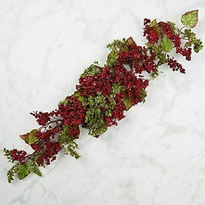 Factory Direct Craft Burgundy Artificial Berry Cluster Swags for Indoor Decor -
