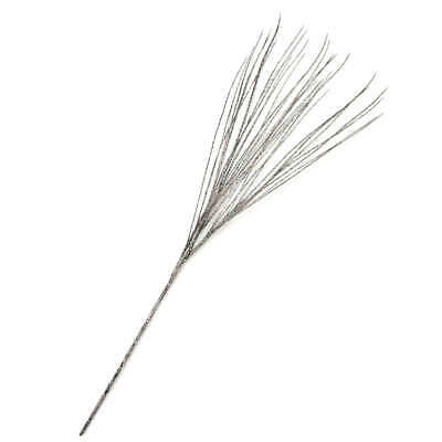 Factory Direct Craft Black and Silver Pistil Grass Spray