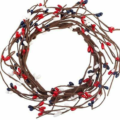Factory Direct Craft Americana Pip Berry Candle Rings | Set of 6