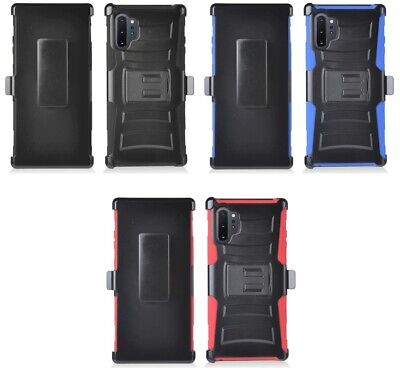 for {Samsung Galaxy Note 10+ PLUS} Super Defender Combo Holster Cover Phone Case
