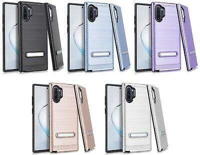 for {Samsung Galaxy Note 10+ PLUS} CS4 Hybrid with Metal Kickstand Cover Case