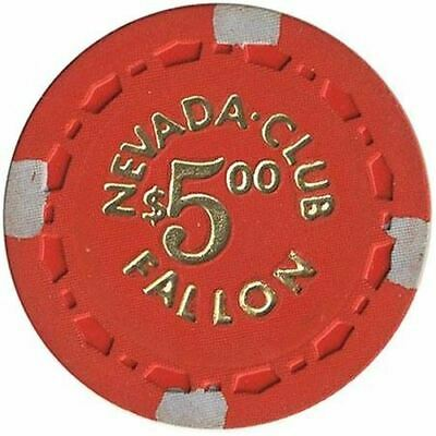 Nevada Club Casino Fallon NV $5 Chip 1964