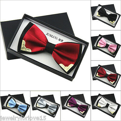 Men Bowtie Bow Tie Suit Necktie Adjustable Formal Tuxedo Wedding Party Ties AU