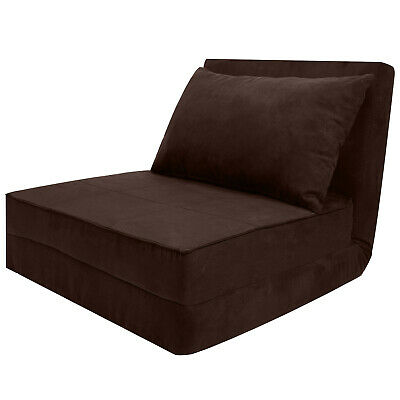 3-Folding Sofa Adjustable Convertible Chair Couch Lounger Sofa Living Room Brown