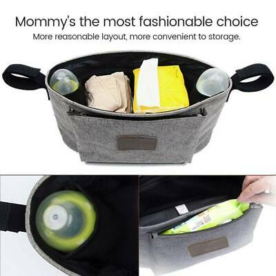 Baby Pushchair Organiser Cup Bottle Holder Stroller Storage Buggy Pram Bag Carer