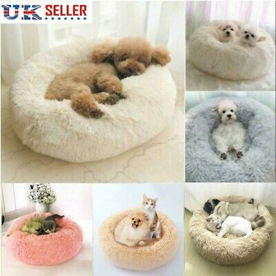 Pet Dog Luxury Shag Warm Fluffy Bed Puppy Kitten Fur Donut  Cushion Mat Bed LOCA
