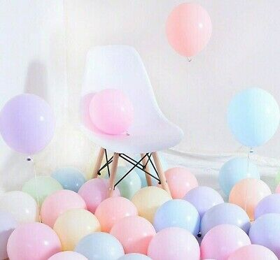 Pack of 100 Pastel Latex Balloons Macaron Candy Many Colour Party 5'' Balloons