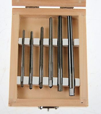 Set of 6 Taper Pin Reamers HSS
