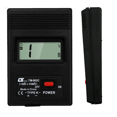 TM-902C Digital K Type LCD Thermometer Thermodetector Meter + Thermocouple EV