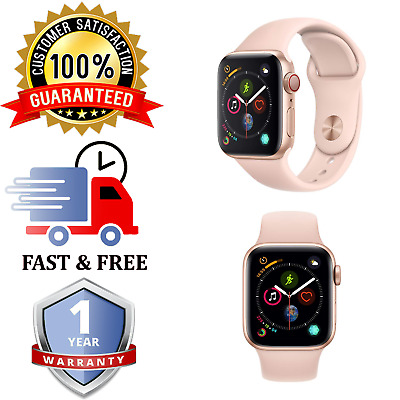 Apple Watch Series 4 40mm || Gold Cellular || Pink Sand Sports Band || NO ECG