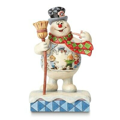 Jim Shore Frosty the Snowman with Scene Figurine Ideal Christmas Gift