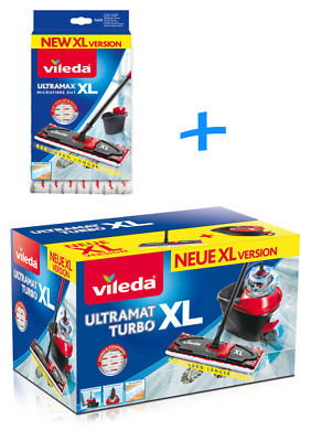 Vileda Ultramat Turbo Bucket Floor Mop Mop Wiper Easy Wring
