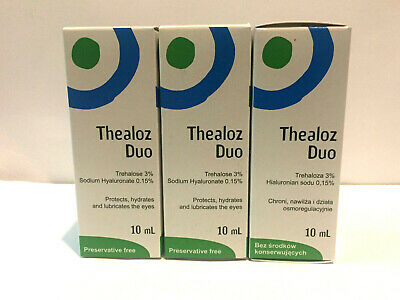 3 X Thea Duo Eye Drops 10Ml Protects Hydrates&Lubricate Eyes Preservative Free
