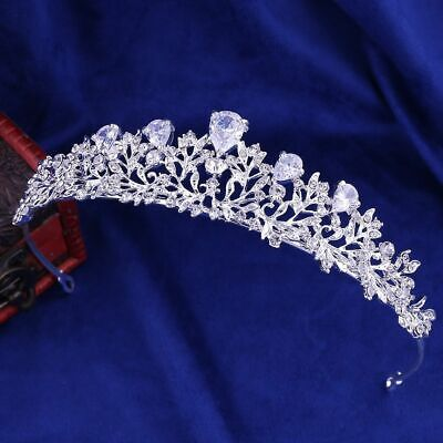 Fashion Crystal Pearl Bridal Crown Woman Tiaras Hair Jewelry Bride Headband