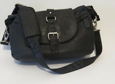 Kelly Moore B-Hobo Camera Bag Water-Resistant Faux-Leather Shoulder Strap