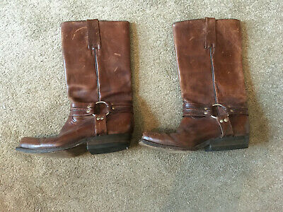 Pistolero Brown Leather Cowboy boots  with ankle strap