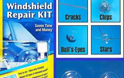 X Windshield Repair Kit Crack DIY Auto Glass Wind Screen Chips and Cracks